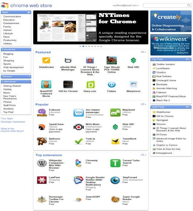 google chrome os web store