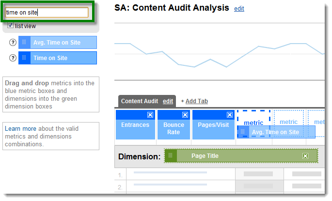 Custom Reports - Dimension and Metrics
