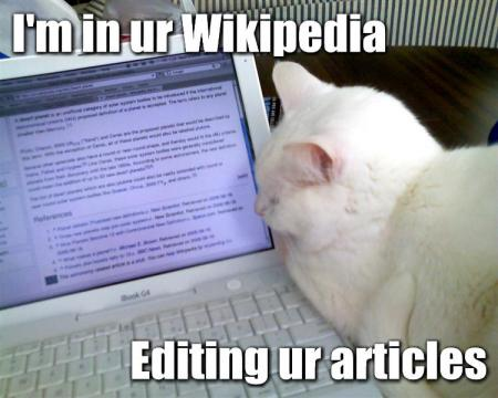 Wikipedia Lolcat