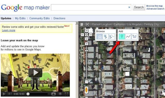 Adding business via Map Maker