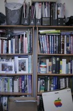 lots of books on shelves