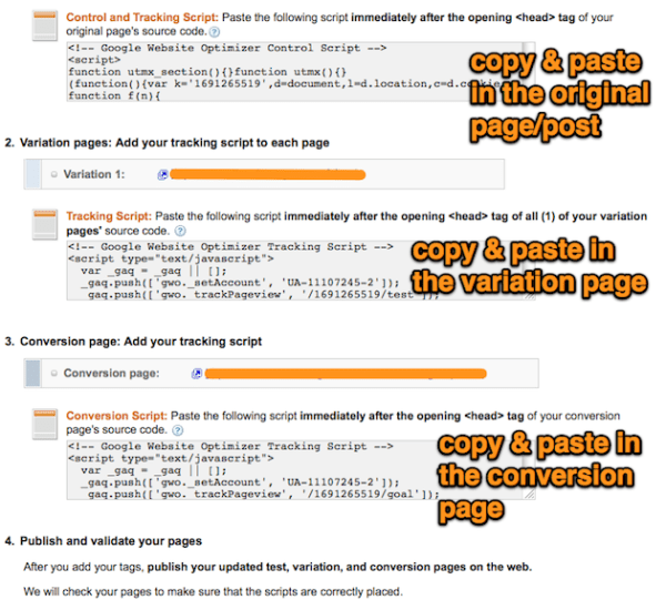 control | variation code