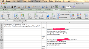 How an XML doc appear in Excel for Mac 2011