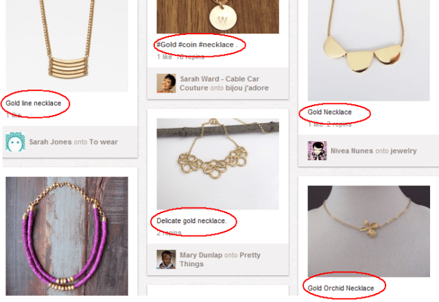 pinterest keyword research search results