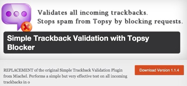 simple Trackback Validation Plugin For WordPress