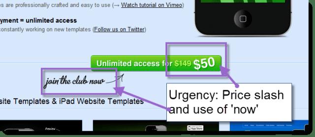 Create urgency via pricing