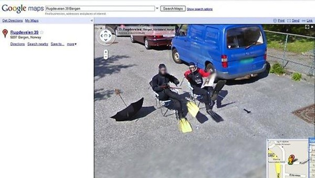 7. Scuba Google Street View Prank