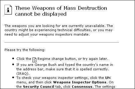 8. Weapons of Mass Destruction Google Bomb