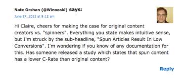 Good Blog Comment