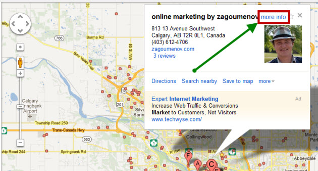 Checking your Google Places / Google+ Local listing