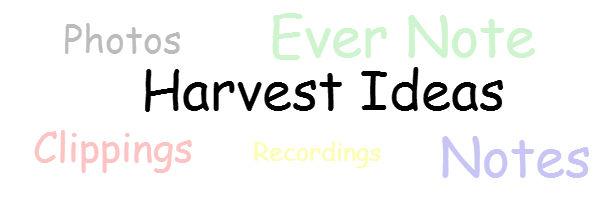 Harvest Blogging Ideas for Content