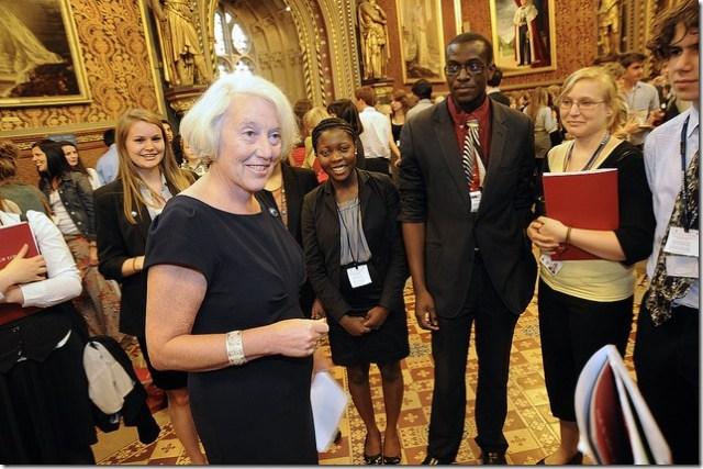 Baroness Hayman meets students