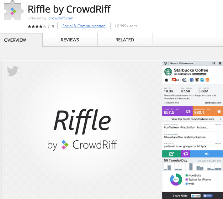 Riffle Chrome Extension