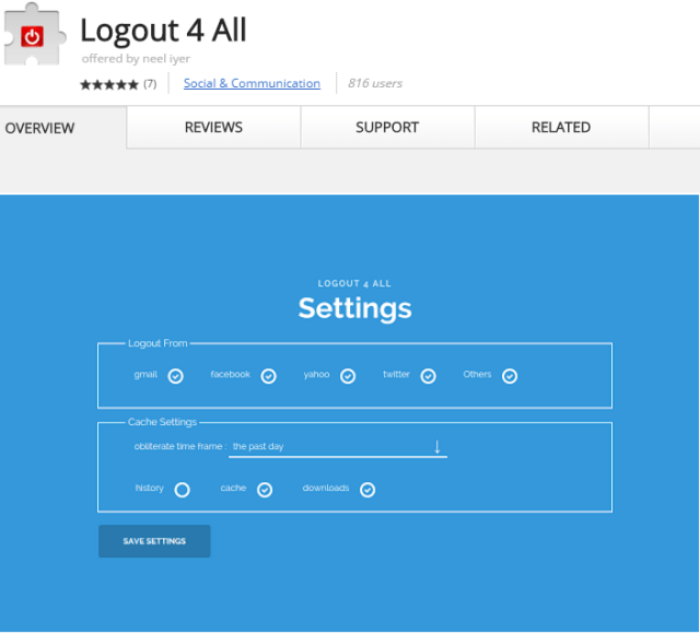 LogOut For All Chrome Extension