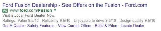 Ford-hard-sell-Google-SERP
