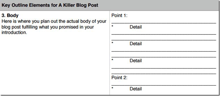 25 blog post templates to make blogging faster killer blog post outline malvernweather Gallery