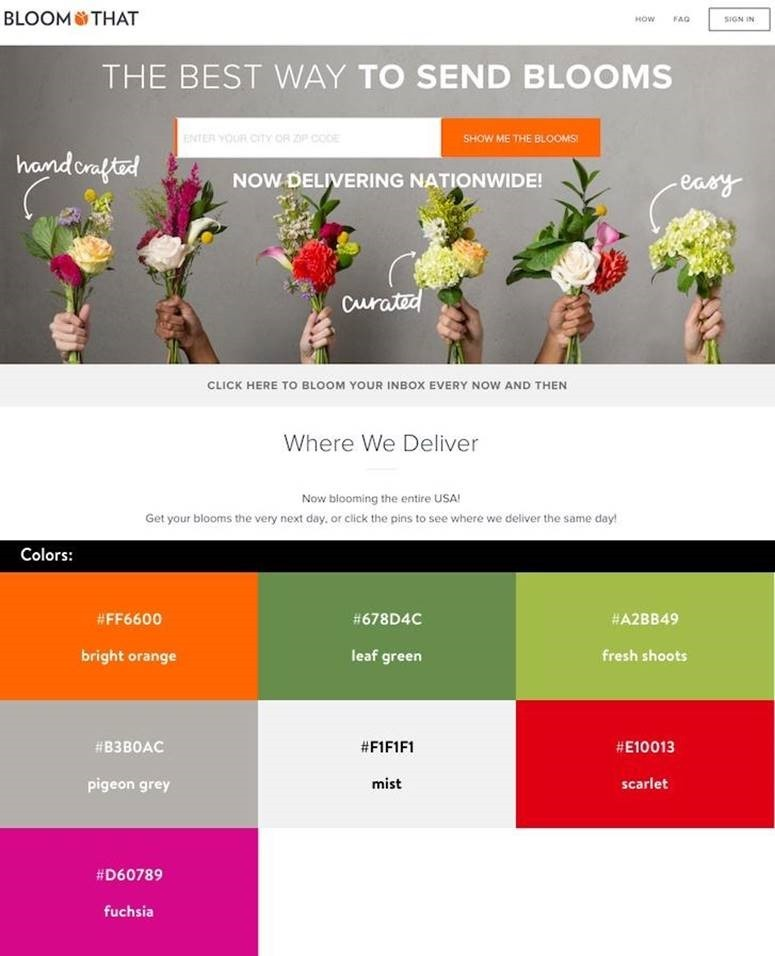 Website marketing design testing 101 for Web page color palette