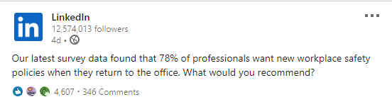 LinkedIn informative post