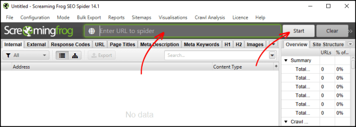 Using Screaming Frog for creating an XML sitemap
