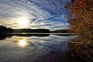 bruke lake sunset