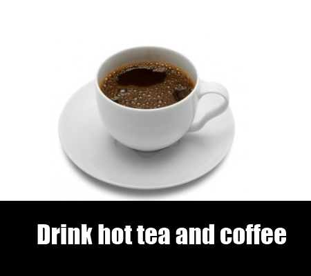 drink hot tea and coffee