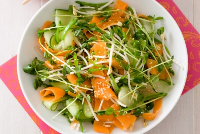 Carrots, Cucumber And Sprouts