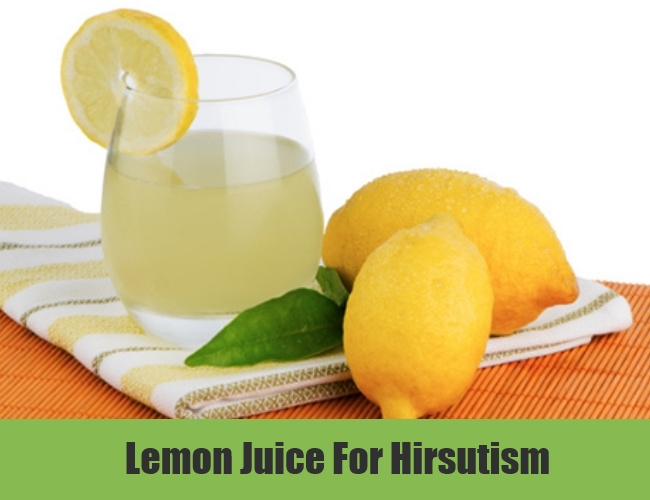 Lemon Juice For Hirsutism