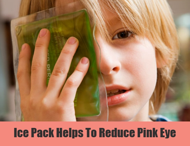 Ice Pack Helps To Reduce Pink Eye