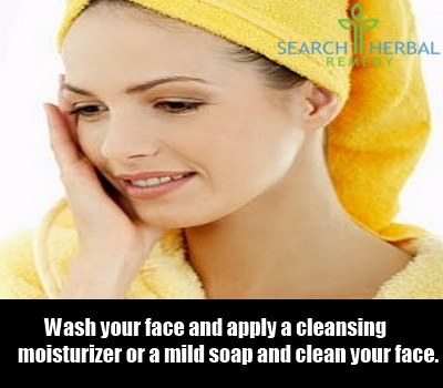 clean your face