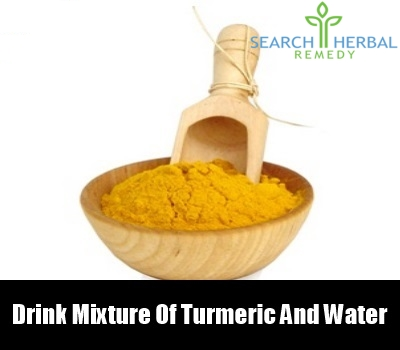 turmeric and water mixture