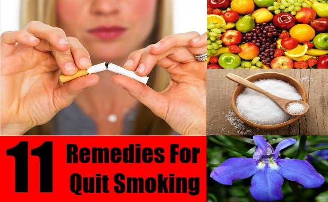 11 Remedies For Quit Smoking