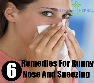 6 Herbal Remedies For Runny Nose And Sneezing - How To ...