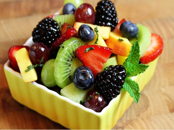 Fresh fruits and salads