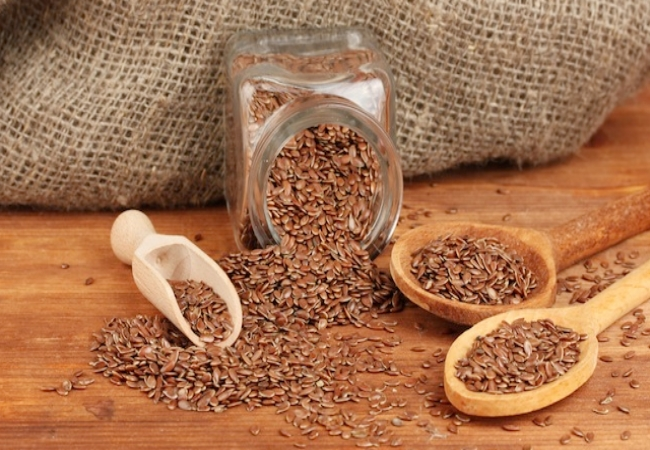 intake of flax seeds