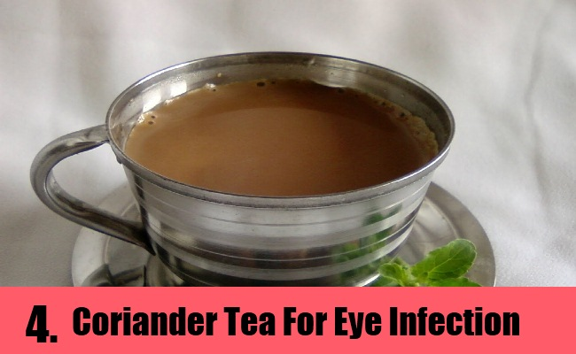 Coriander Tea For Treating Eye Infection