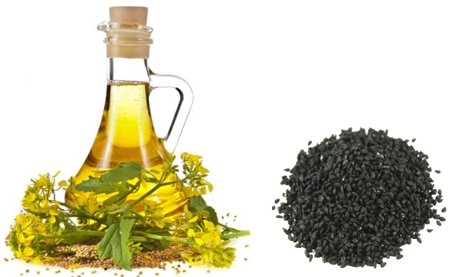 Mustard Oil And Onion Seeds