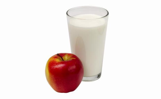 Mix Of Apple And Milk