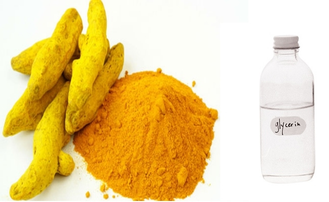 Turmeric Powder and Glycerin
