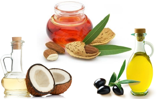 Coconut Oil, Almond Oil And Olive Oil