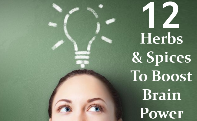 Herbs And Spices To Boost Brain Power