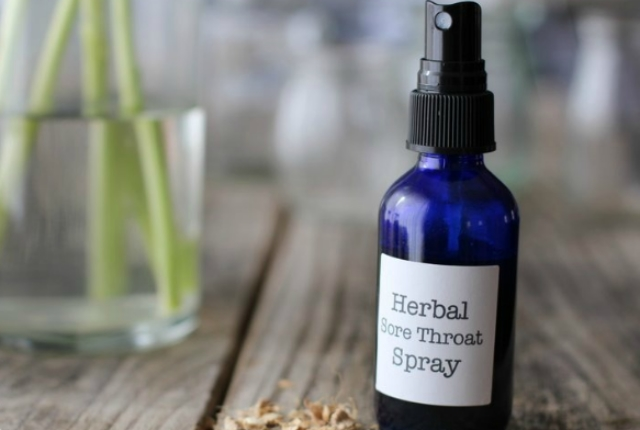 Herbal Throat Spray For Sore Throats