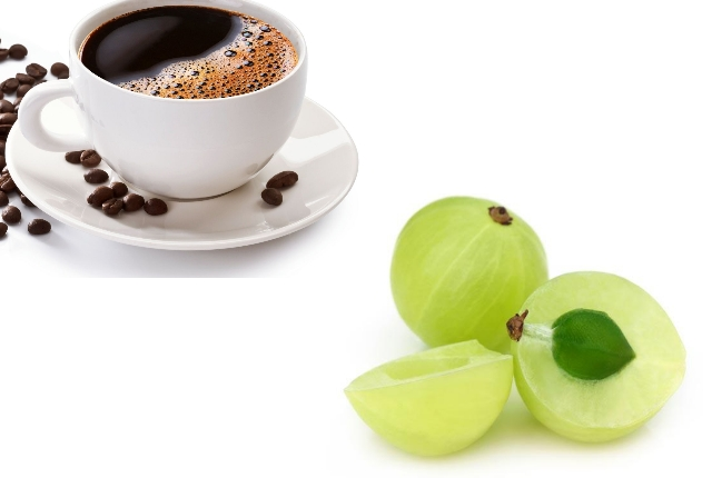 Indian Gooseberry oil And Coffee