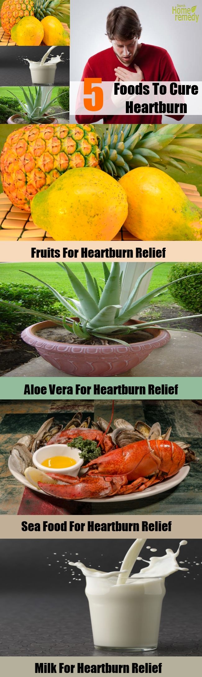 5 Foods To Cure Heartburn
