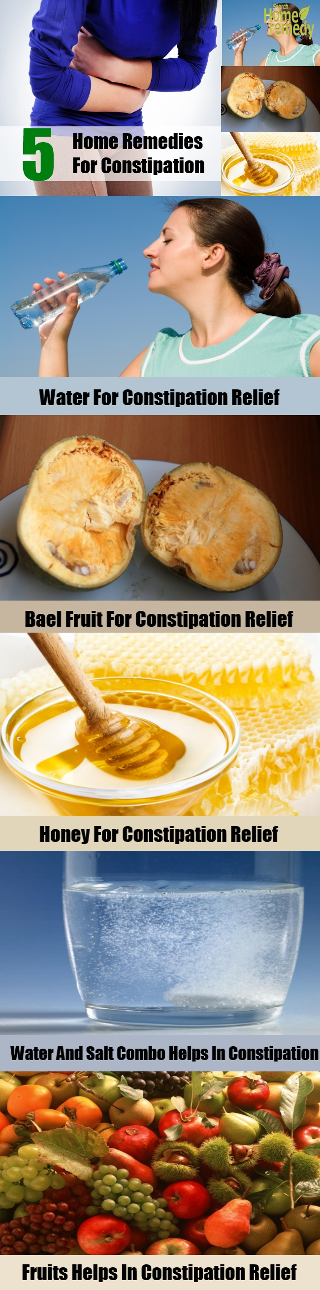 5 Home Remedies For Constipation
