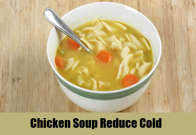 Chicken Soup Reduce Cold