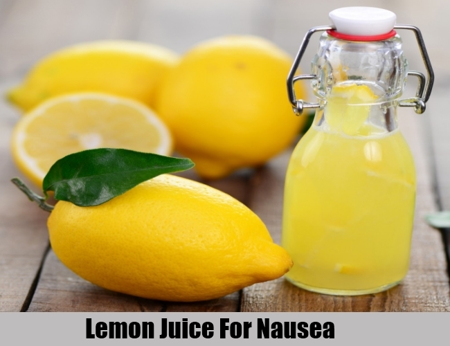 Lemon Juice For Nausea
