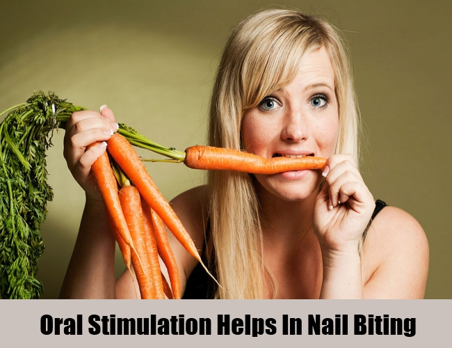 Oral Stimulation Helps In Nail Biting
