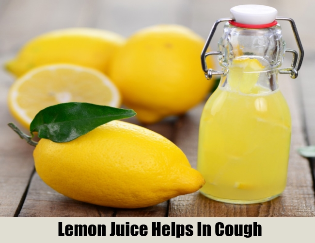 Lemon Juice Helps In Cough