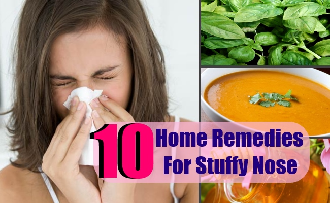 10 Home Remedies For Stuffy Nose