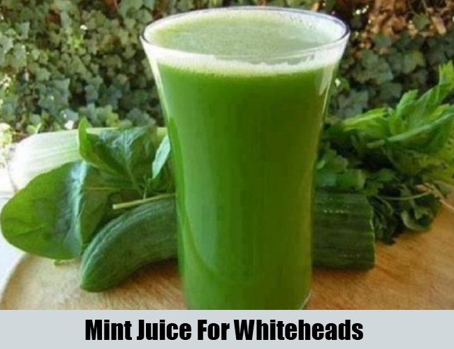 Mint Juice For Whiteheads